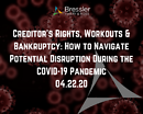 Webinar: Creditor's Rights, Workouts & Bankruptcy: How to Navigate Potential Disruption During the COVID-19 Pandemic 04.22.20