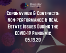 Webinar: Coronavirus & Contracts: Non-Performance & Real Estate Issues During the COVID-19 Pandemic 05.13.20