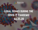 Webinar: Legal Issues during the COVID-19 Pandemic 03.25.20